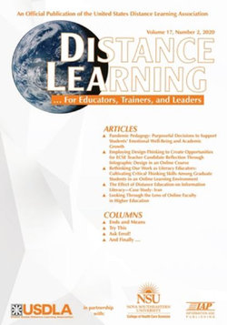 Distance Learning Volume 17 Issue 2 2020