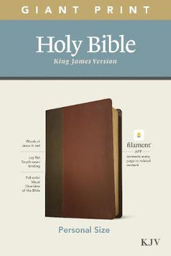 KJV Personal Size Giant Print Bible, Filament Enabled Edition (LeatherLike, Brown/Mahogany)