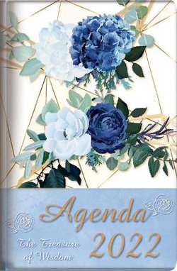 The Treasure of Wisdom - 2022 Daily Agenda - Royal Blue Roses