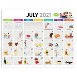 Cal 2022- Every Day's a Holiday Academic Year Desk Pad