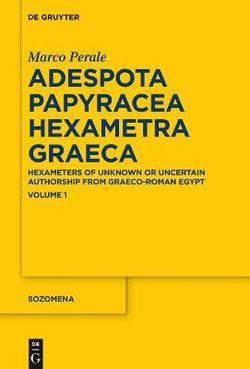 Adespota Papyracea Hexametra Graeca