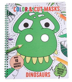 Color and Cut Masks: Dinosaurs