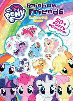 My Little Pony Colouring Book with Puffy Stickers
