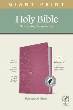 NLT Personal Size Giant Print Bible, Filament Enabled Edition (Red Letter, LeatherLike, Peony Pink, Indexed)