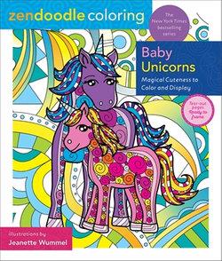 Zendoodle Coloring: Baby Unicorns