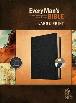 Every Man's Bible NLT, Large Print (Genuine Leather, Black, Indexed)