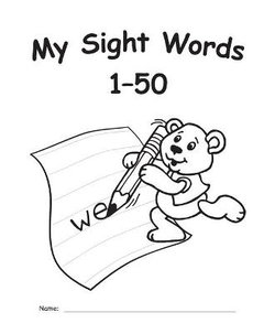 My Own Books(tm) Sight Words 1-50