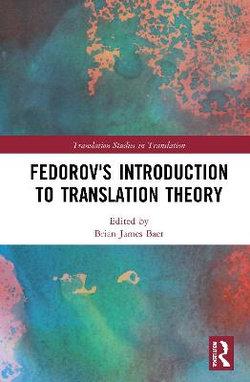 Federov¿s Introduction to Translation Theory (baer)