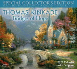 Thomas Kinkade Special Collector's Edition with Scripture 2022 Deluxe Wall Calen