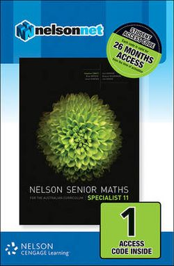 Nelson Senior Maths Specialist 11 Student Access Card 1 Year
