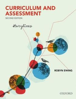 Curriculum and Assessment: Storylines