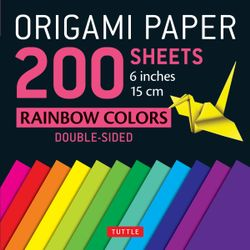 Origami Paper Rainbows
