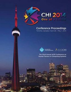 CHI 14 Proceedings of the SIGCHI Conference on Human Factors in Computing Systems Vol 1