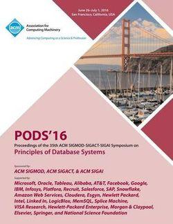 PODS 16 35th ACM SIGMOD-SIGACT-SIGAI Symposium on Principles of Database Systems
