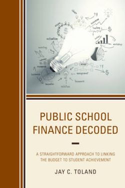 Public School Finance Decoded