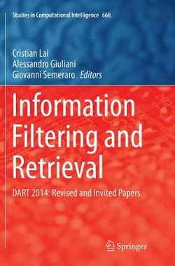Information Filtering and Retrieval