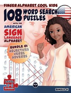 108 Word Search Puzzles with the American Sign Language Alphabet: Bundle 01